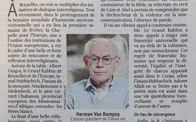 """""""Le dialogue interreligieux au cœur du quartier européen"""""""