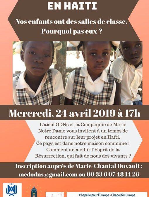 Projet en Haïti:comment accueillir l'Esprit de la Résurrection