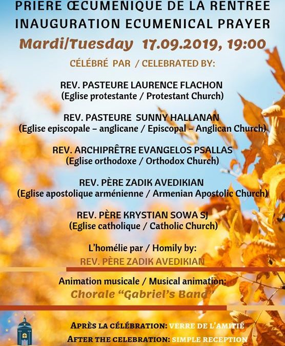 Inauguration Ecumenical Prayer