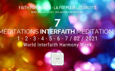 La foi pour les droits – Semaine mondiale de l'harmonie interconfessionnelle – 1 au 7 février 2021